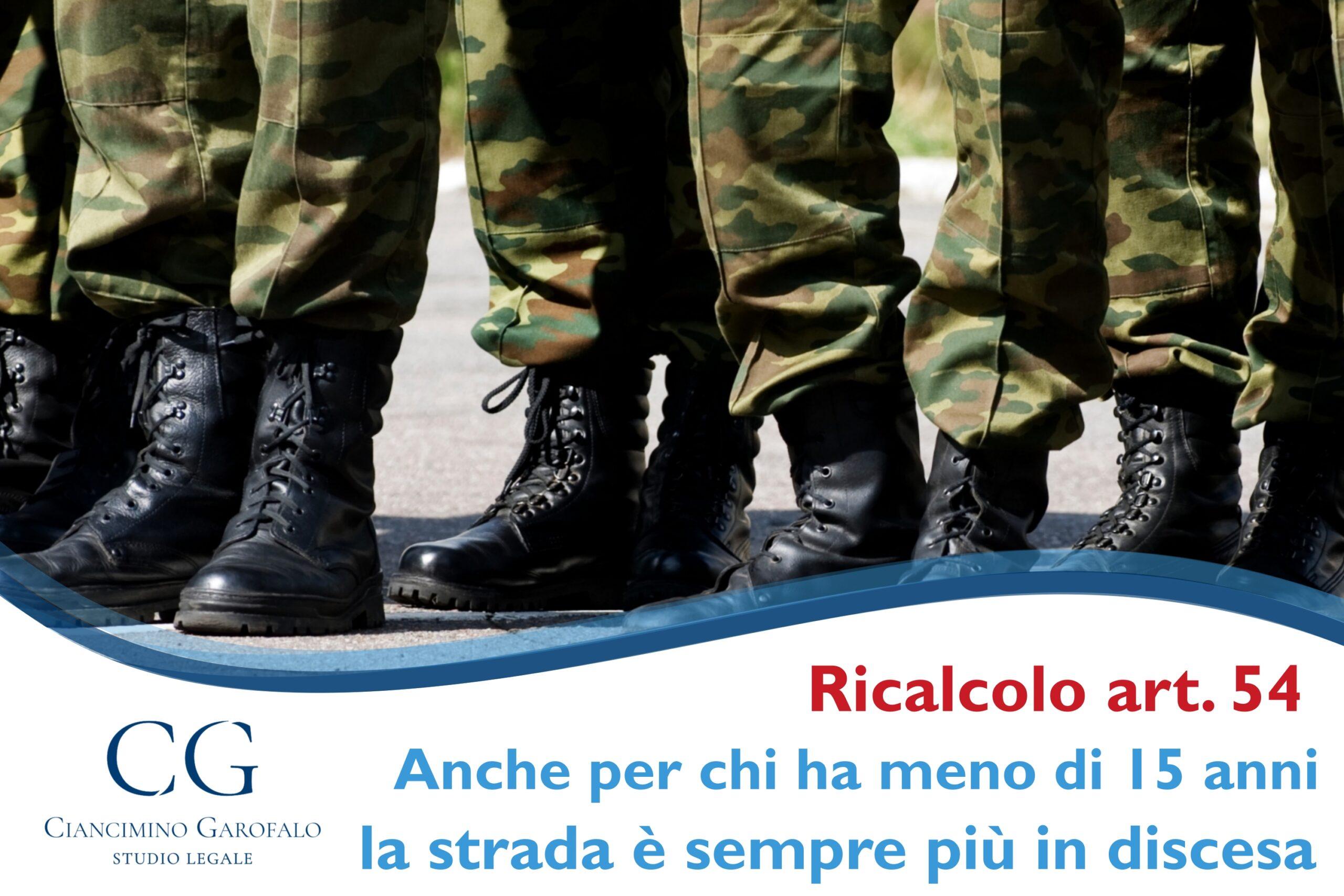 Ricalcolo pensione militare: strada spianata per chi ha meno di 15 anni
